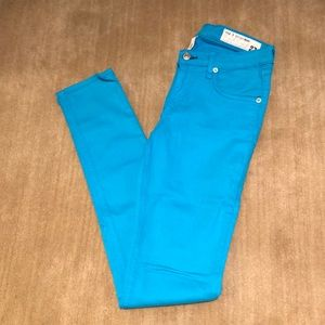 Rag & Bone Turquoise Blue Colored Jeans
